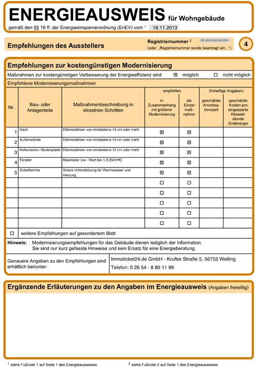 Muster Energieausweis Seite 4